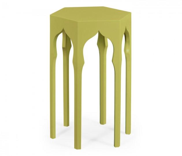 Hexagon Lamp Table (Split Pea)