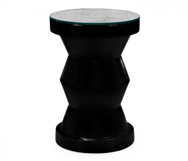 Smoky Black round wine table