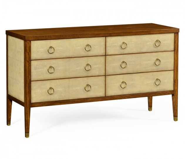 Ivory Shagreen Double Chest of Drawers