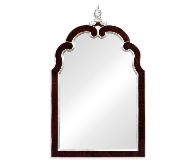 Black Eucalyptus and Silver Hanging Mirror