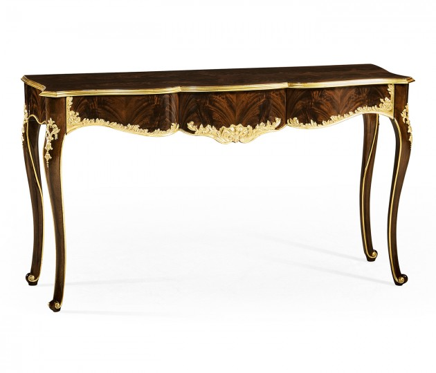 Console table with gilded carving
