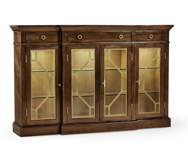 Dark Rosewood Four-Door Display Cabinet