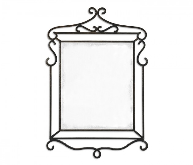 Wrought-iron mirror