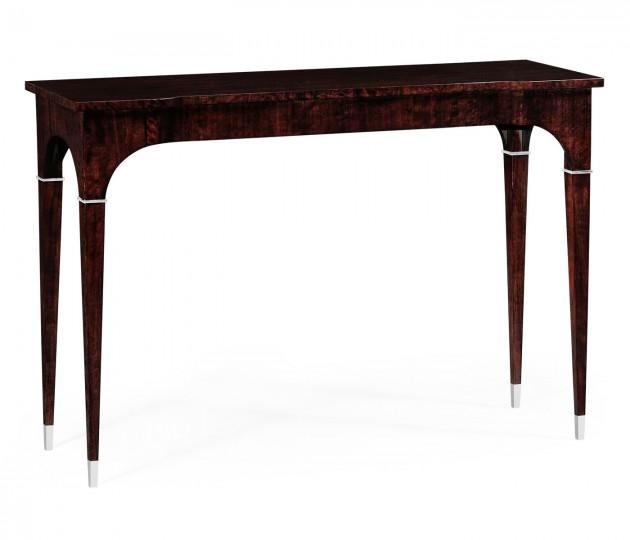 Black Eucalyptus Rectangular Console Table