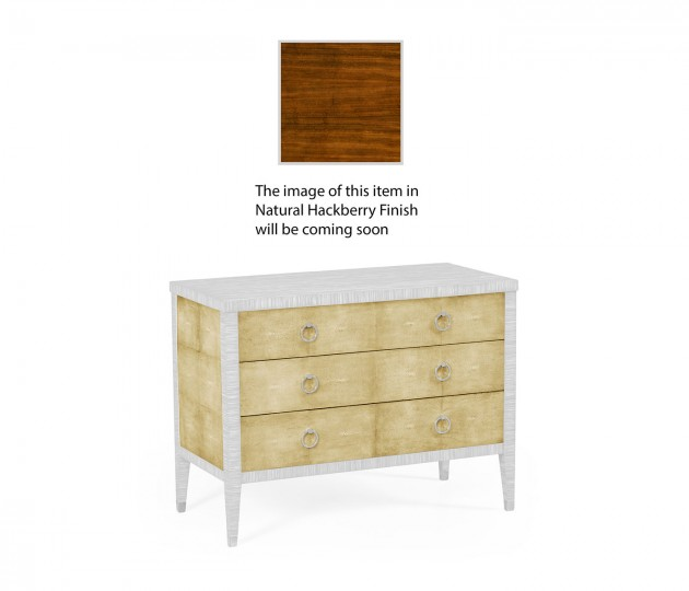 Ivory Faux Shagreen 3-Drawer Chest of Drawers