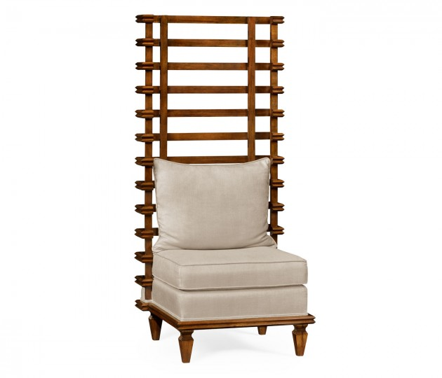 High Back Occasional Chair, Upholstered in MAZO