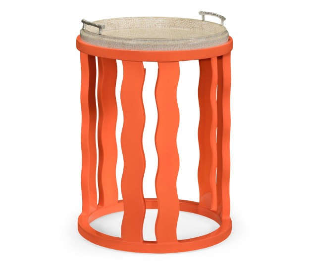 Persimmon Side Table with Reversible Top