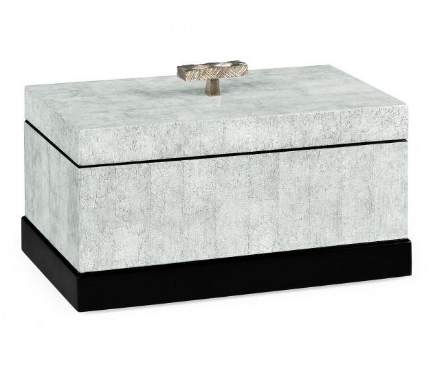 White Smoke Eggshell Rectangular Box