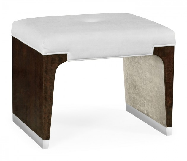 Black Eucalyptus Dressing Stool, Upholstered in COM by Distributor