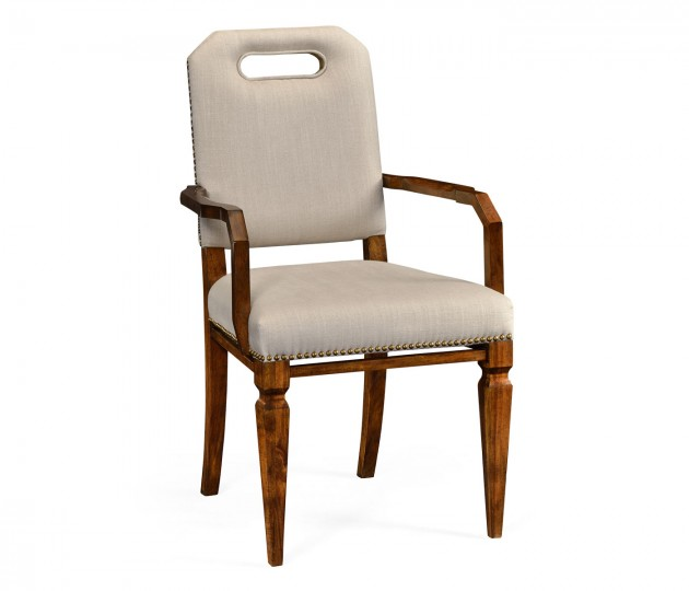 Contemporary Camden Dining Arm Chair, Upholstered in MAZO