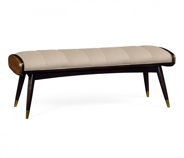 Hyedua Mid-Century Bench, Upholstered in MAZO