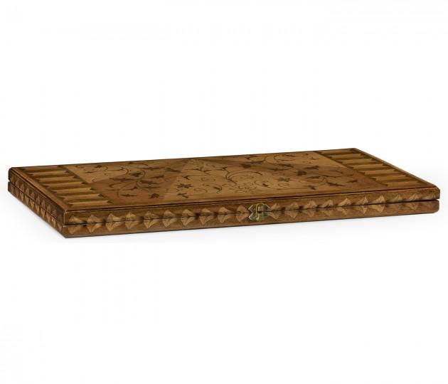 Seaweed Marquetry Backgammon Board