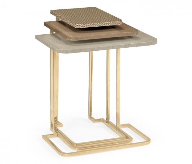 Brown Italian Layer Nesting Tables