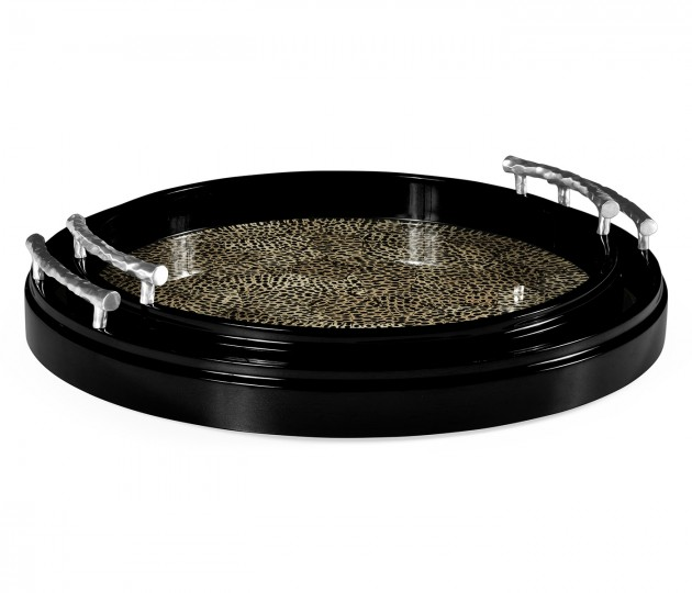 Duo Circular Black Eggshell Tray