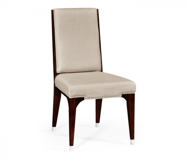 Black Eucalyptus Dining Side Chair, Upholstered in MAZO