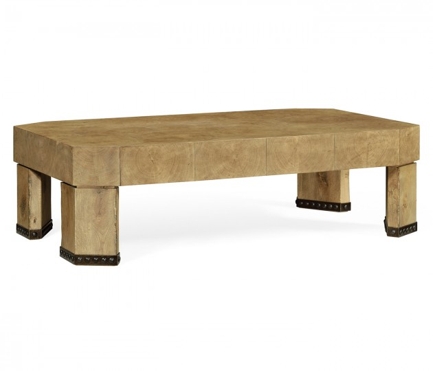Rectangular Oyster Coffee Table in Natural Washed Oak