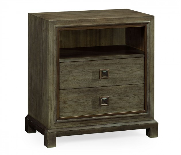 Nightstand in light grey chestnut