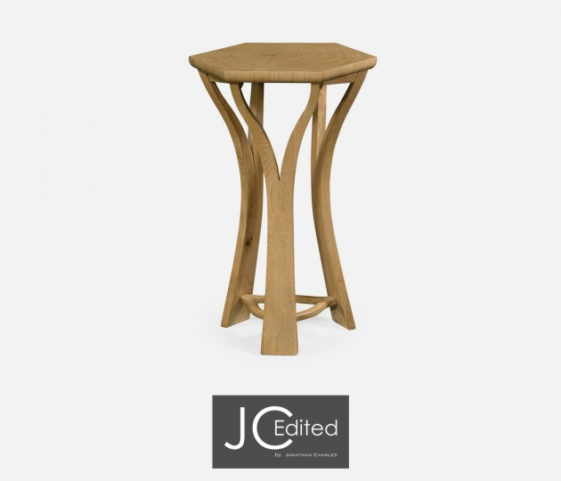 Architectural Hexagonal Oyster Lamp Table