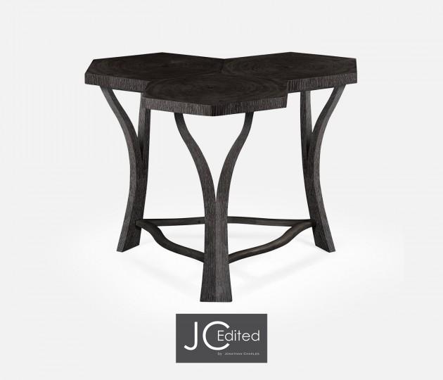 Architectural Tripal Hexagonal Black Mocha Oak Oyster Coffee Table