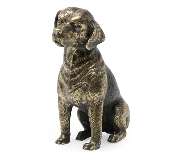 Antique Dark Bronze Beagle Dog