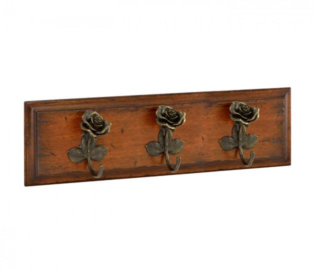 Three rose hooks