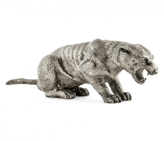 Antique White Brass Panther