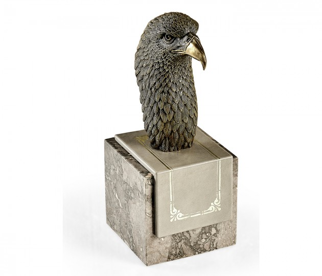 Anitque Dark Bronze Bald Eagle Head