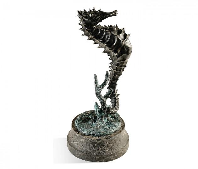 Antique Dark Bronze Seashorse