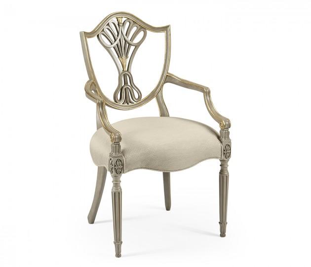 Buckingham Shield Back Arm Chair