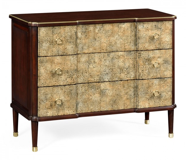 Chest of Drawers with Eggshell Inlay & Brass Details