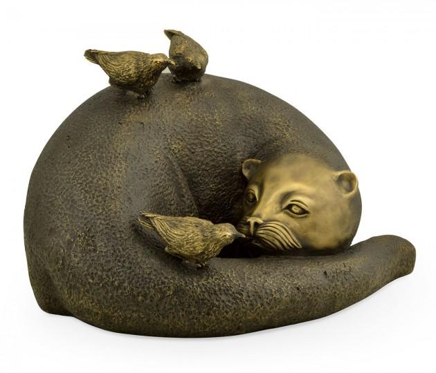 Antique Black Brass Otter