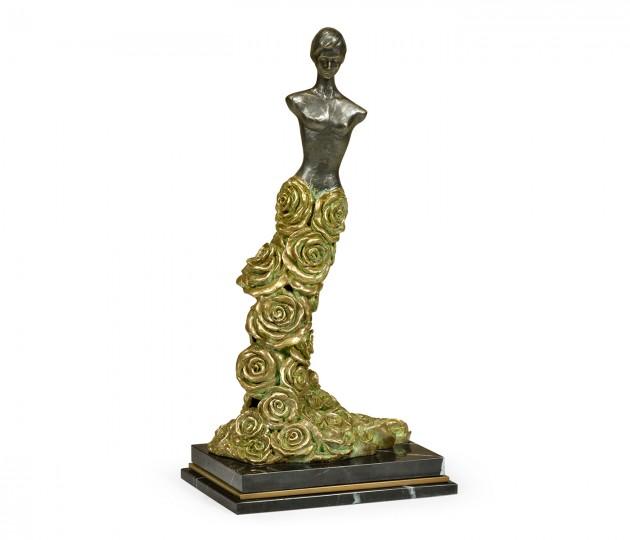 Antique Light Brown Brass Mod Statue