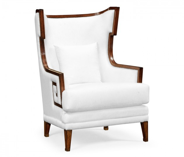 Biedermeier Greek Key Walnut Occasional Chair