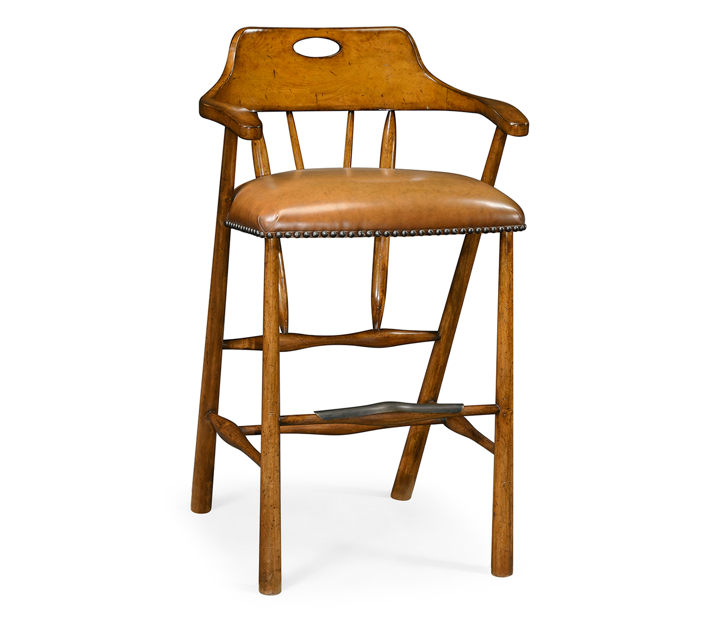 Prime Smokers Style Country Walnut Bar Stool With Antique Chestnut Caraccident5 Cool Chair Designs And Ideas Caraccident5Info