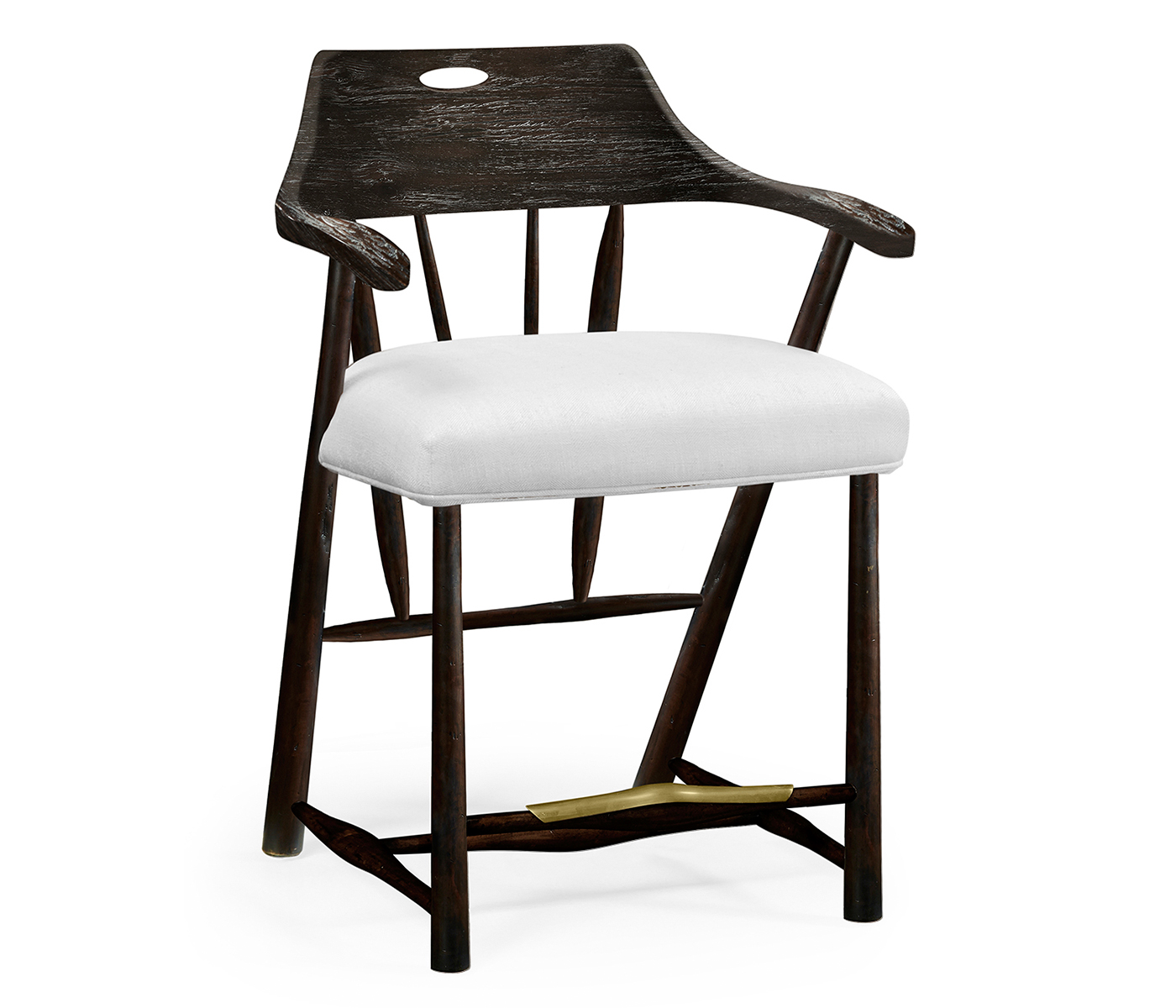 Superb Smokers Style Dark Ale Counter Stool Upholstered In Com Alphanode Cool Chair Designs And Ideas Alphanodeonline