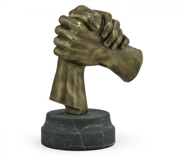 Antique Brass Gripping Hands