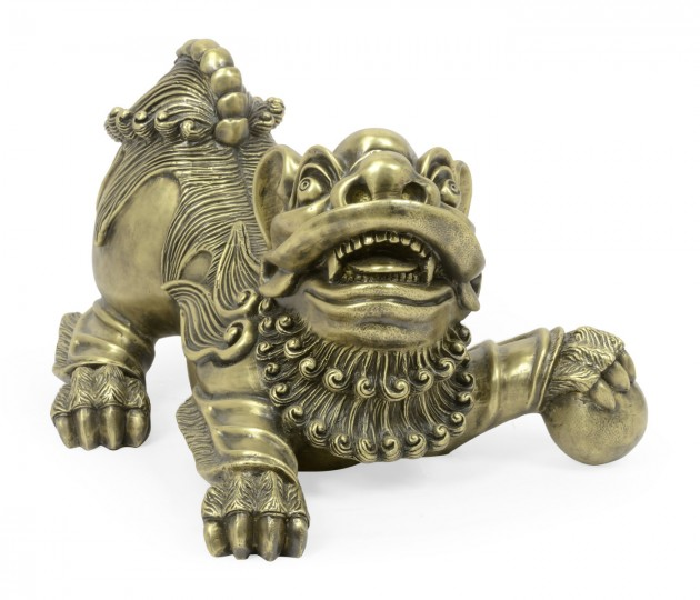 Antique Brass Foo Dog