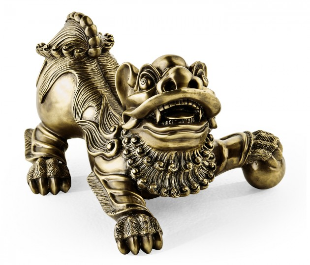 Antique Brass Foo Dog