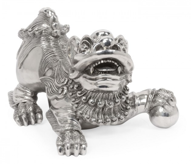 Antique Stainless Steel Foo Dog