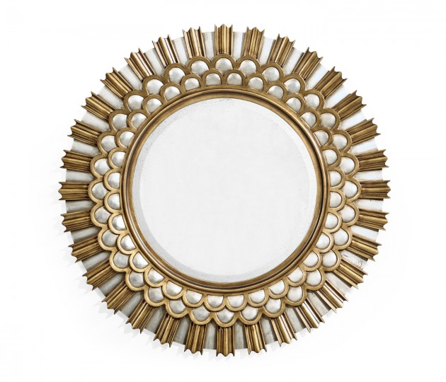Berkley Burst Gilded Hanging Wall Mirror