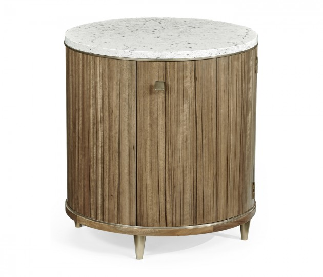 Hamilton Round Table with Speckled Marble Top