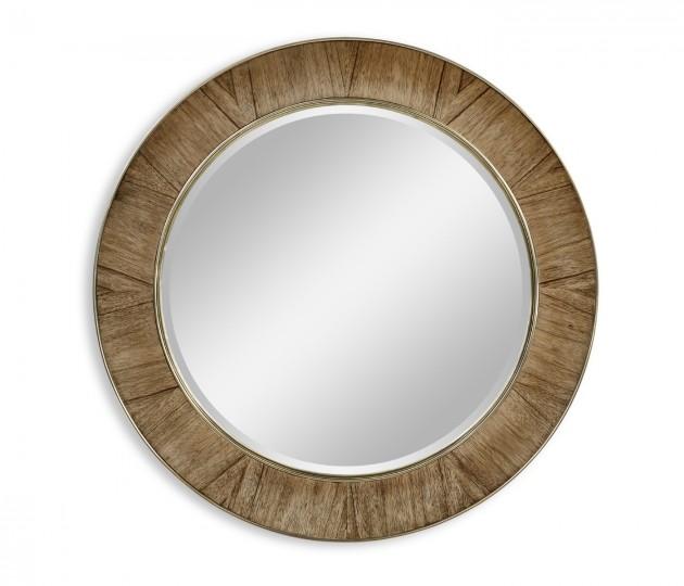 Hamilton Circular Golden Amber & Brass Hanging Wall Mirror