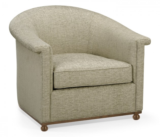 Barcelona Accent Chair, Upholstered in All Star Flax