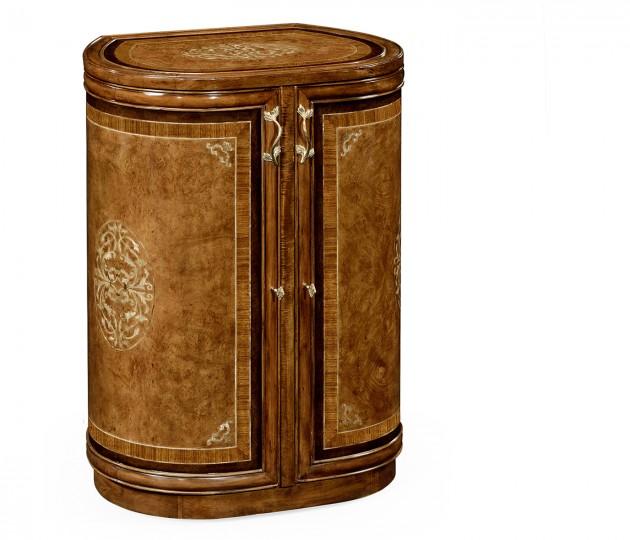 Burl & mother of pearl inlaid metamorphic dressing table