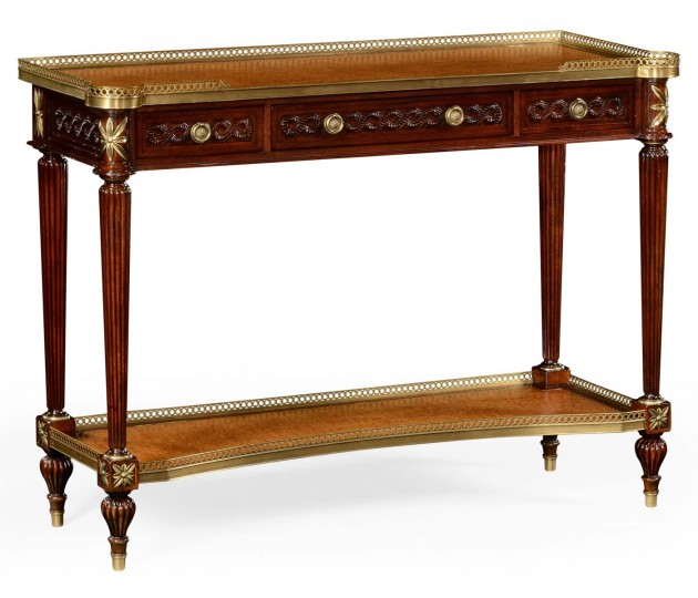 Napolean III Mahogany and Brass Console