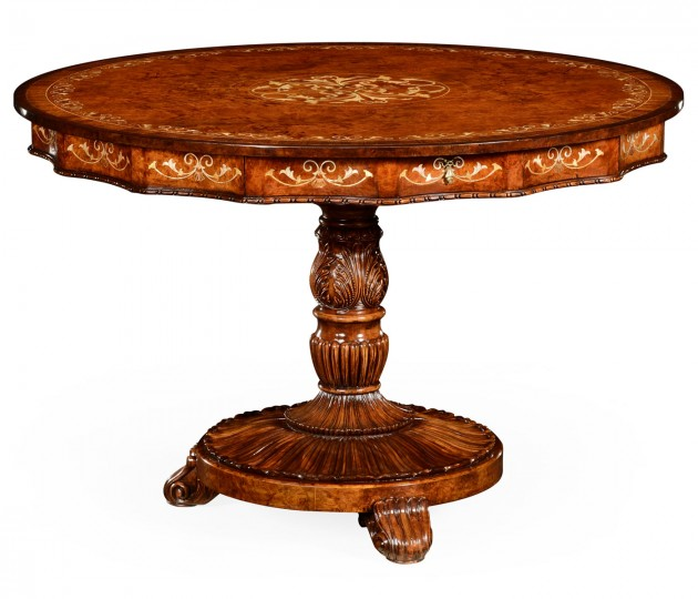 Burl & Mother of Pearl Centre Table