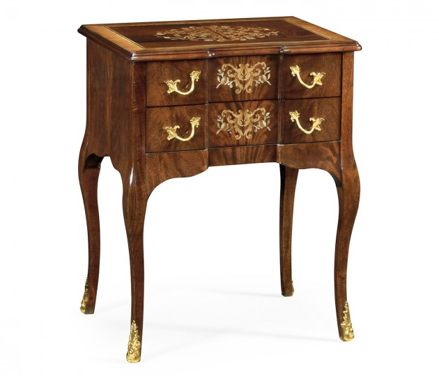Mahogany & Mother of Pearl Bedside Chest