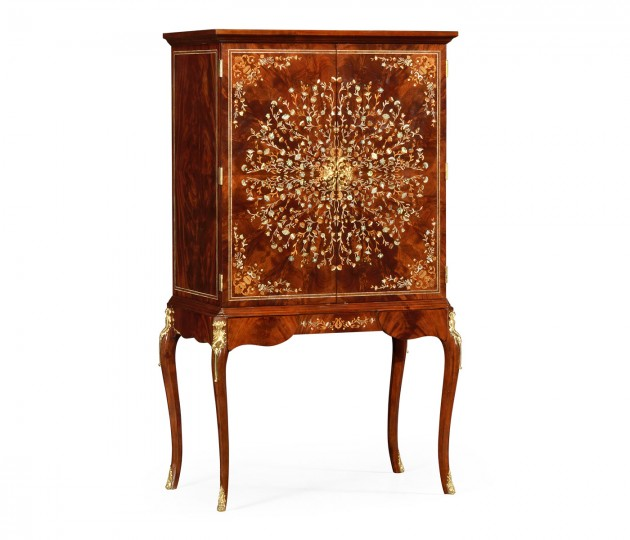 Mahogany & Mother of Pearl Drinks Cabinet
