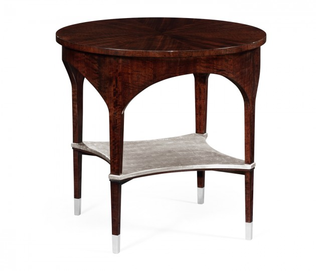 Round Black Eucalyptus Side Table