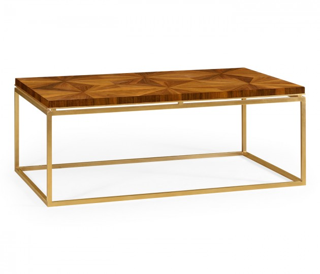 Rectangular Bookmatched Walnut Coffee Table